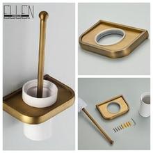 Antique salle de bains wc brosse ensemble avec céramique tasse de bain toilette porte-balais pour salle de bains accessoires
