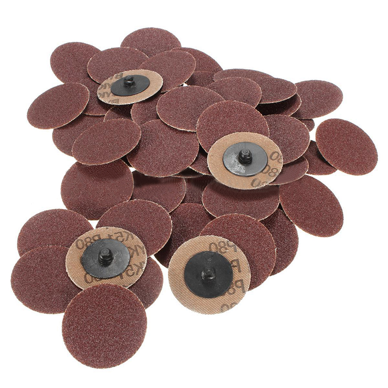 50pcs Roll Lock Surface Sanding Discs 2 50mm Roloc Grinding Abrasive Tools Set 80 Grits 50pcs set 2 roloc sanding disc scotch brite roll lock coarse surface conditioning for stainless steel standard alloyed steel