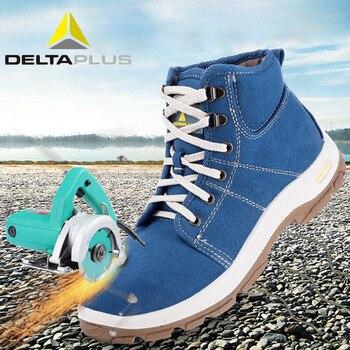 Deltaplus 301226 안전 신발 부츠 통기성 캔버스 스틸 발가락 모자 노동 신발 안티 피어싱 정전기 방지 패션 안전 신발