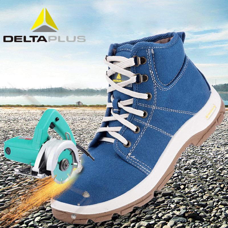 Deltaplus 301226 Safety Shoe Boots Breathable Canvas Steel Toe Cap Labor Shoes Anti-piercing Anti-static Fashion Safety Shoes