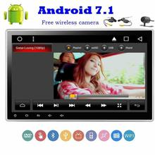 Wireless camera Included !Android 7.1 Car Stereo DVD CD 2 Din Head Unit GPS Navigation Autoradio SD Support 3G/4G WIFI Radio FM