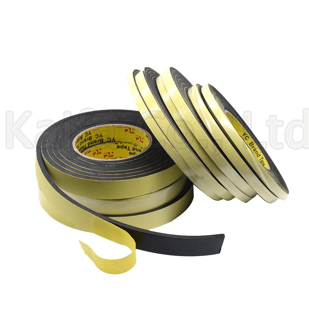 3M/5M x 8mmx 1mm/3mm Single Sided Adhesive Waterproof Weather Stripping Foam Sponge Rubber Strip Tape For Window Door Seal Strip
