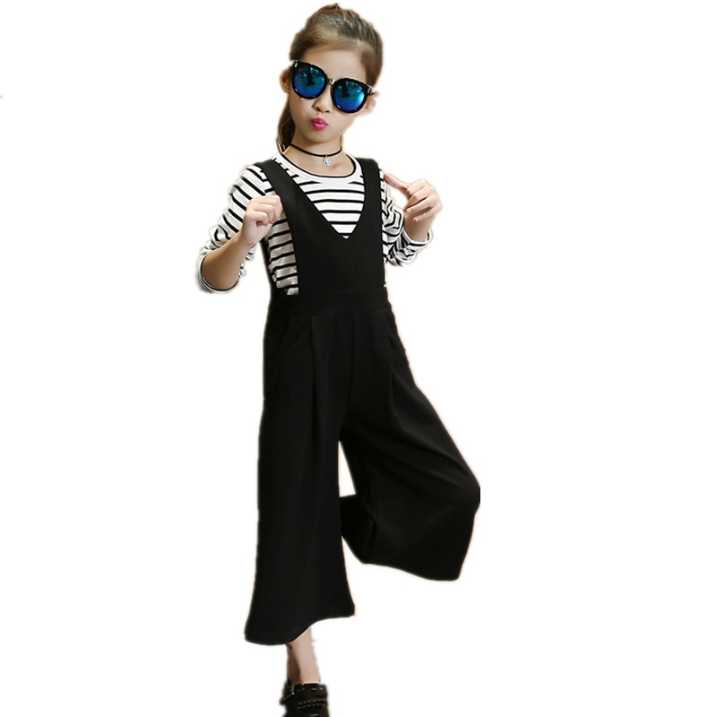 2 Pcs New Spring Autumn Girls Clothing Set Fashion Wide Leg Pants & T-shirt Clothing for Girl Casual Baby Girl Sets Clothing купить