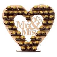 Mr. & Mrs. Wedding Chocolate Stand Wooden Ferrero Rocher Stand Cupcake Dessert Display Stand Centrepiece Candy Bar Decor