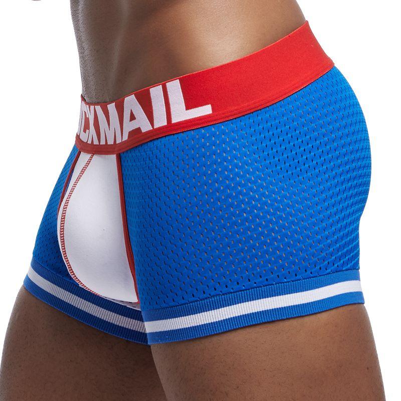 JOCKMAIL New 1Pcs/lot Men Underwear Boxers Mesh Cuecas Boxers Men Boxer Homme Boxershorts Gay Men Male Panties Calzoncillos