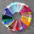 100 unids/lote Multicolors Organza 13x18 cm boda decoración cosméticos joyería embalaje bolsas favores de partido regalo de Tulle