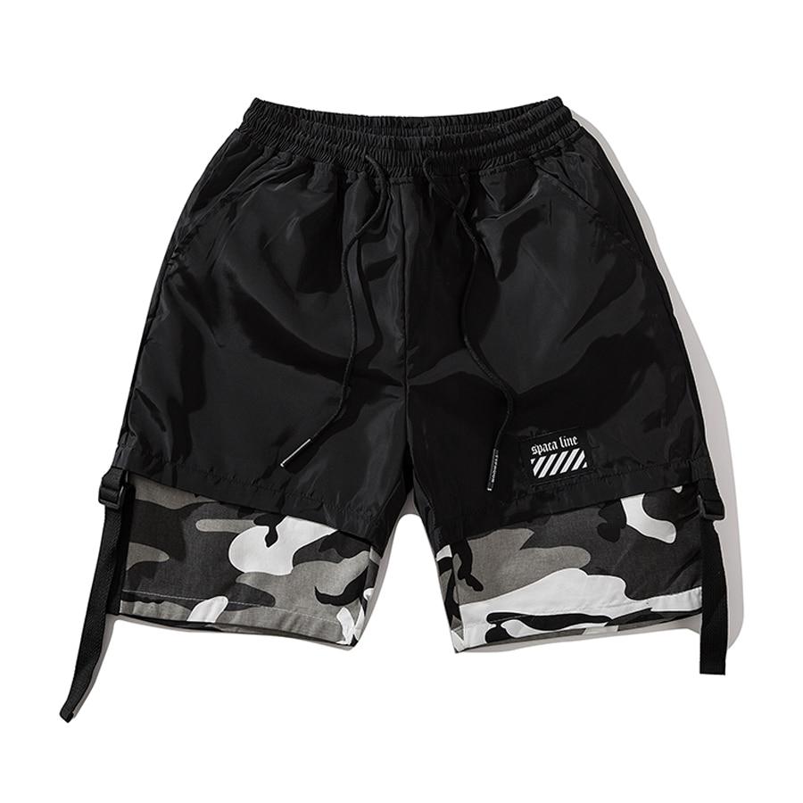 2019 Casual Summer Shorts Men Cotton Knee Elastic Waist Streetwear Mens Shorts Hip Hop 6xl Short Bermudas Moleton Masculina Swag