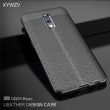 For OPPO RenO Case Shockproof Luxury PU leather Rubber Soft Silicone Phone Case For OPPO RenO Back Cover For OPPO Reno Fundas цена