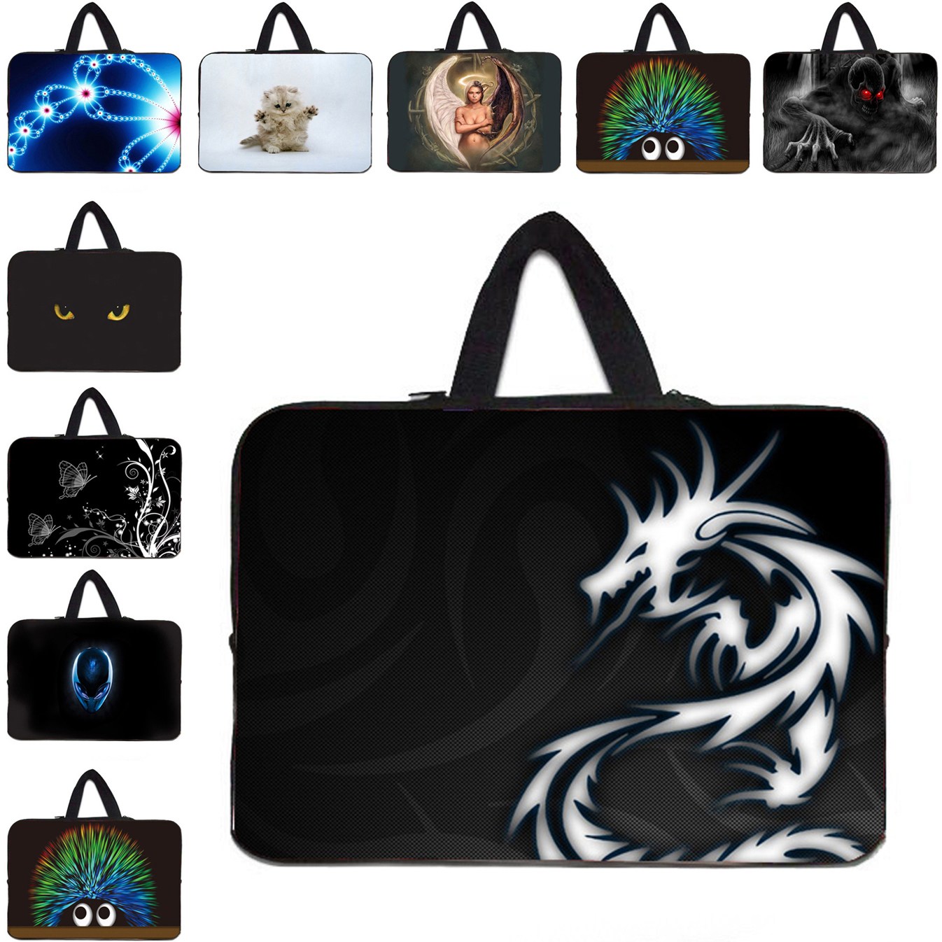 Fashion 16.8 17 inch Notebook Bags 17.3 15 13 12 10 14 Inch Sleeve Laptop Bags For Macbook Pro Lenovo Tab Asus Acer Dell HP En