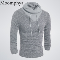 Moomphya 2017 New Arrived Men Cowl Neck Sweater Pullovers Fall winter men warm sweater Fashion hip hop sweater Pullovers men