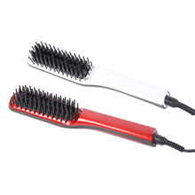 Ceramic Heating Electric Hair Straightener Brush Ceramic Straightening Brush Temperature Display Anti-scald Effective Hair Comb цена