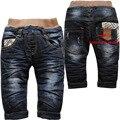 3815 мягкий деним и черное руно зима теплая детские джинсы брюки мальчики детские Дети джинсы случайные брюки мальчиков брюки