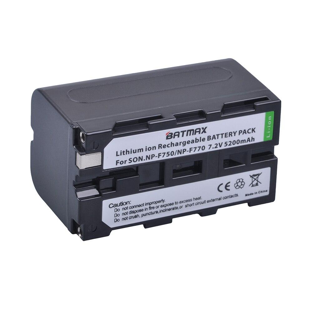 Digital Batterien 5200 Mah 1 Stück Np-f750 Npf750 Np F750 F730 F770 Batterie Für Sony Np F960 F970 Np-f770 F550 Ccd-trv58 Trv110k Trv26e Hvr-z1 V1j Z1