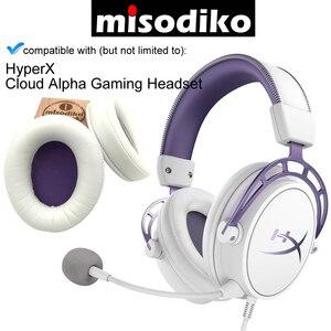 Image 4 - Misodiko substituição almofadas de ouvido kit para hyperx nuvem alpha fone de ouvido de jogos, peças de reparo earpads com espuma de memória
