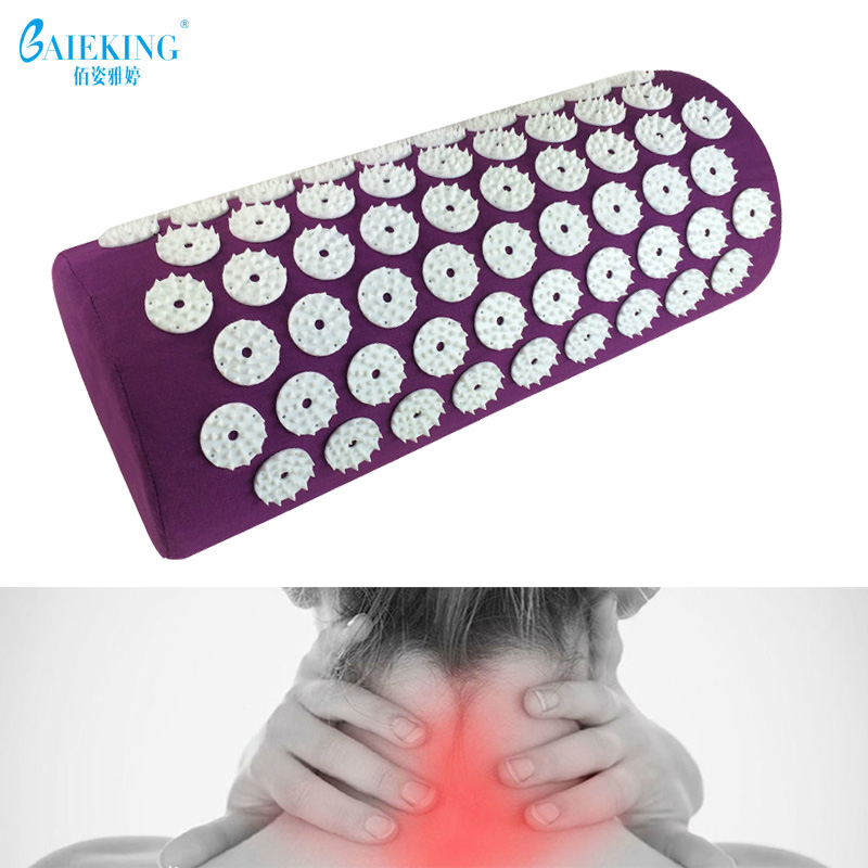 Acupressure Massage Pillow Head Massager Stress Neck Pain Relief Treatment Tension for Neck Relaxation Health Care Tool Nck Care acupressure spike yoga pillow mat relief health care shakti massager relaxation neck back pain treatment