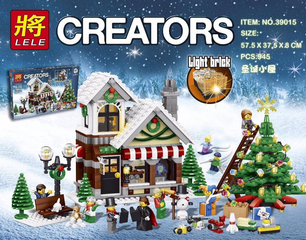 GirlS friends Series legoings 39015 Cinderella s Christmas hut Building Blocks Educational Brick font b Toy