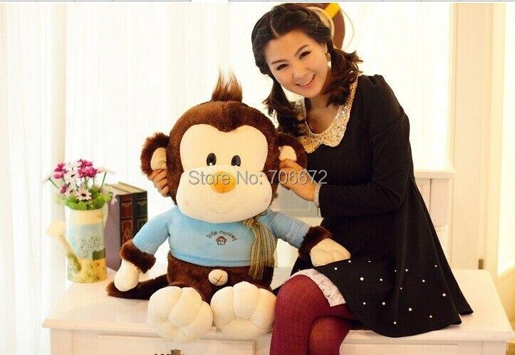 Grand 65 cm belle singe en peluche jouet, coussin, cadeau d'anniversaire s0819