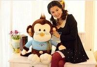 large 65cm lovely monkey plush toy, throw pillow , birthday gift s0819