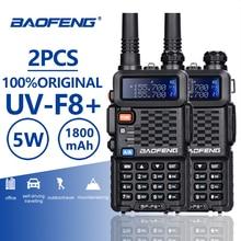 2 шт. Baofeng BF-F8 + UHF/VHF двухканальные рации 10 км с PTT наушники портативный ручной отель CB автомобиля радио станции Ham КВ трансивер