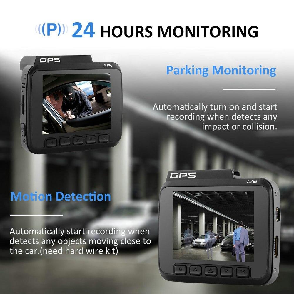 Dual Lens GS63D WiFi FHD 1080P Front Dash Cam Novatek 96660 Camera Built in GPS + VGA Rear Car DVR Recorder 2880 x 2160P - 6