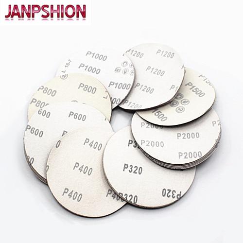 JANPSHION 40pc papier de verre rond rouge Papier de ponçage - Outils abrasifs - Photo 2