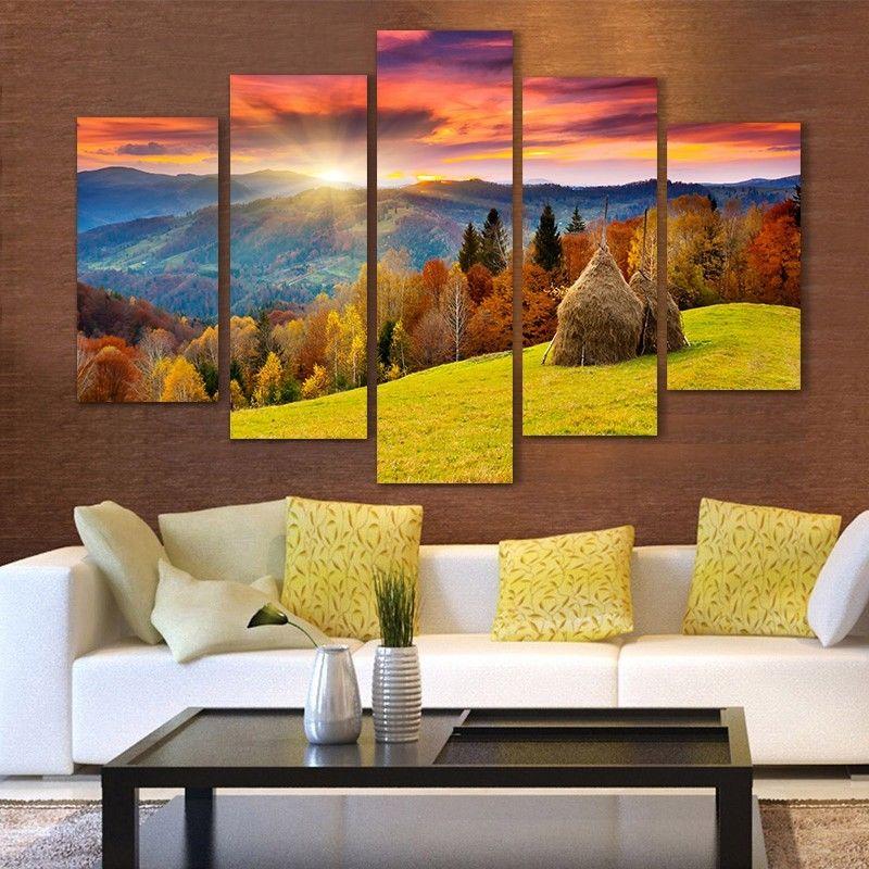 Compra realistas paisajes online al por mayor de china mayoristas de realistas paisajes - Enmarcar lienzo ...