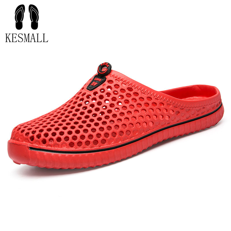 KESMALL Special Offer Summer Women Clogs Shoes Beach Breathable Slippers Waterpro Anti-Slip Clogs Women Mule Clogs Lightly WS92 summer women casual jelly shoes beach slippers breathable waterproof clogs for women hollow slippers flip flops shoes mule clogs