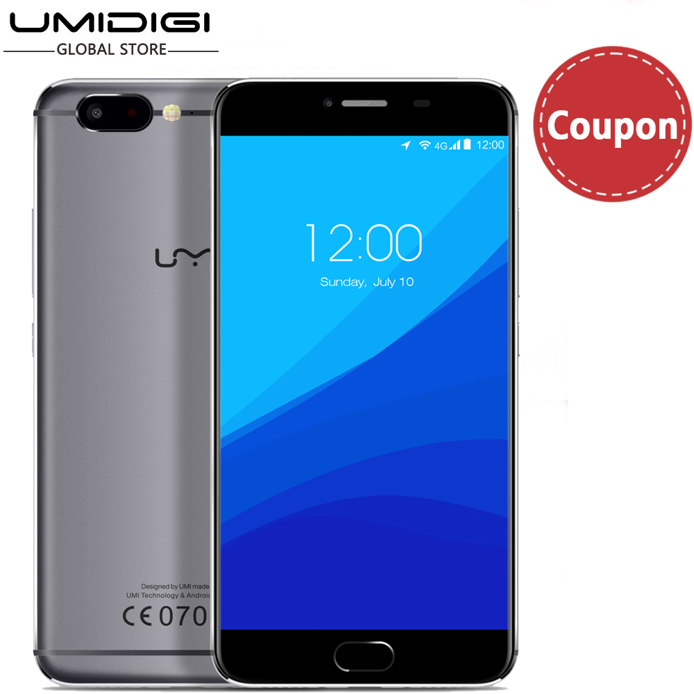 "Цена за Umi z helio x27 передней touch id full metal флагман телефон 5.5 ""Сотовый телефон 13MP Мягкий Передней Камеральной Android Смартфон 6.0"