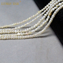 Fine 100 Natural Freshwater Pearl Irregular Rice Shape Beads For Jewelry Making DIY Bracelet Necklace 2-4mm Strand 14 #8221 cheap Freshwater Pearls None ZZ-0051 about 10g NJQSIC LUOMAN XIARI as picture show natural pearl about 0 5mm about 3-4mm Irregular Shape Pearl