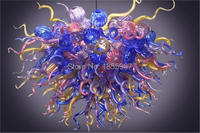 Free Shipping High Quality Cheap Art Colorful Stained Glass Chandelier