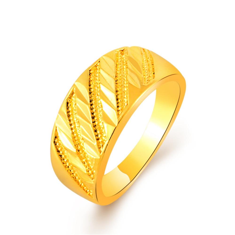 Trendy Daily News: 2017 Elegant Design Gold Colou Simple Rings For Girls