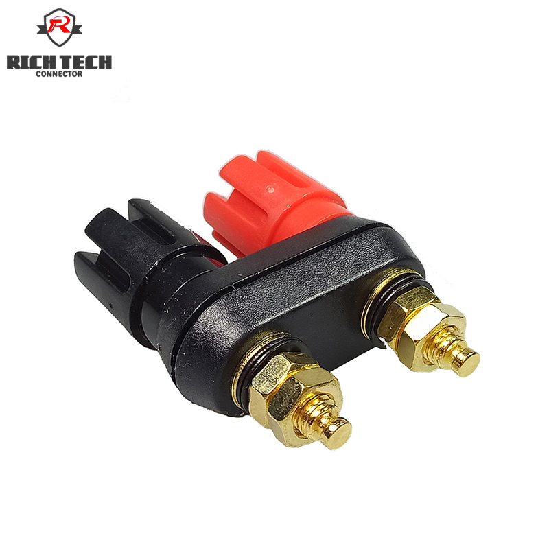 Binding Post Connector 8pcs Lotus Gold 4mm Banana Plug for Amplifier Speaker Wire Connector Binding Post акустические кабели atlas hyper bi wire 2 to 4 5 0m transpose z plug gold