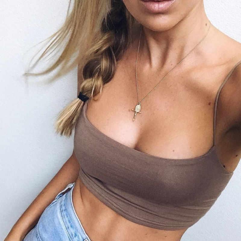 Nieuwe Mode Vrouwen Sexy Crop Tops Solid Zomer Camis Vrouwen Casual Tank Tops Vest Mouwloos Crop Tops