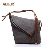New High Quality Durable Large Canvas Bag Retro Crazy Horse Single Shoulder Bag For Men And