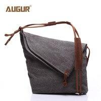 New High Quality Durable Large Canvas Bag Retro Crazy Horse Single Shoulder Bag For Men And