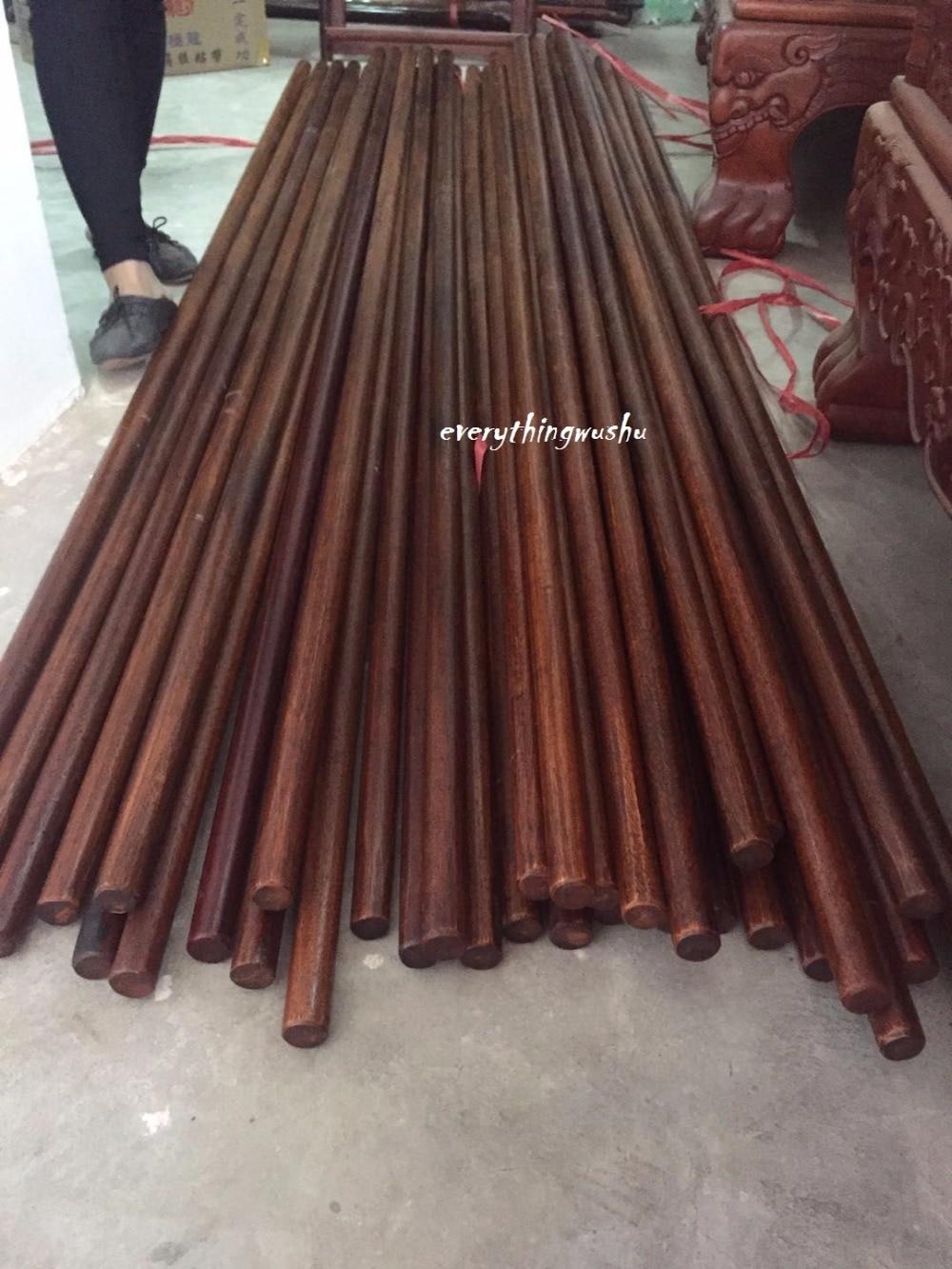 Wing Chun Long Poles Luk Dim Boon Kwan Wushu Dragon Poles-Merbau