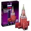 Candice guo! Nova chegada 3D puzzle brinquedo modelo de papel CubicFun 3D torre Spasskaya C118h 1 pc