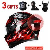 Мотоциклетный шлем аксессуары для чоппера и скутера 3/4 открытый уход за кожей лица Casco Мото Bluetooth гарнитуры точка с светодиодная световая ма