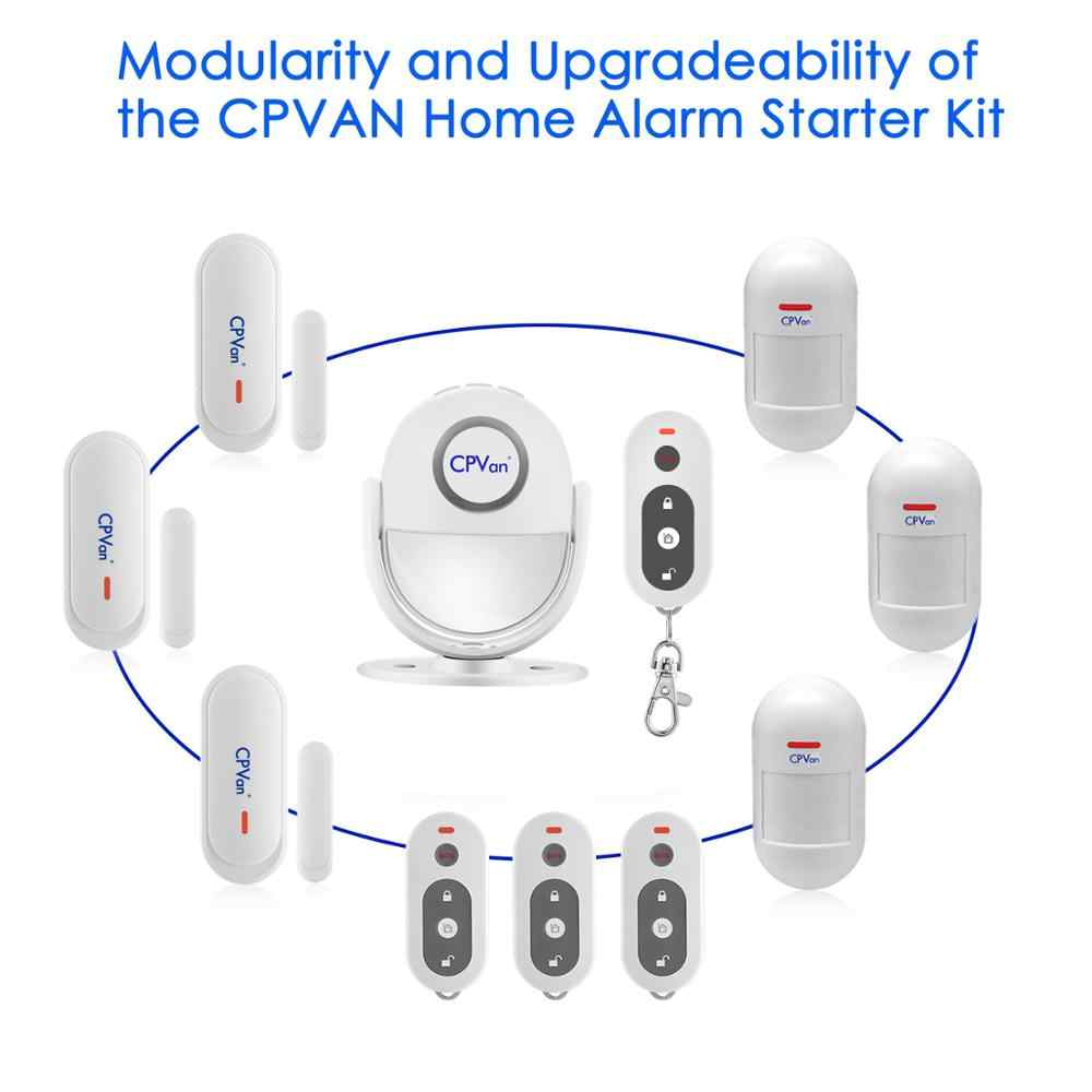 ... CPVAN Wireless Motion Sensor Alarm Infrared PIR DIY Motion Detector Burglar Alarm System with Remote Control ...