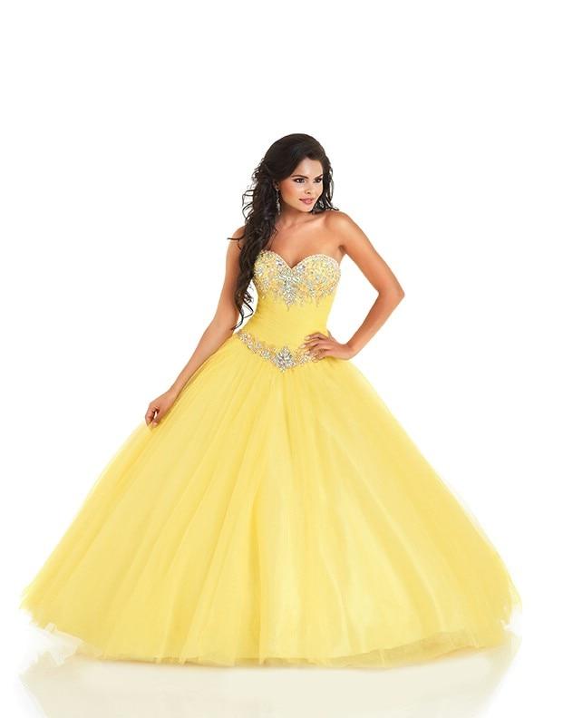 Popular Yellow Quinceanera Dresses-Buy Cheap Yellow Quinceanera ...