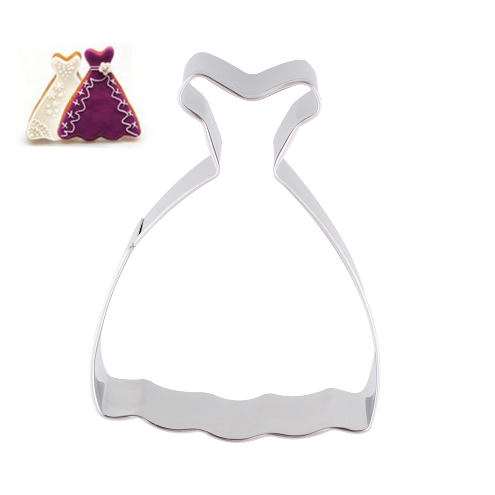 New Creative Romantic Wedding Dress Princess Gown Cookies Cutter ...