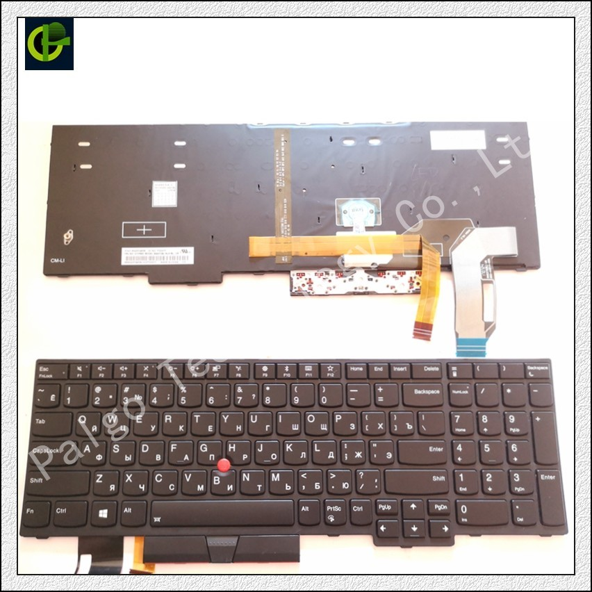 Russian Backlit Keyboard for IBM Lenovo thinkpad E580 L580 RU 01YP680 01YP640 01YP560 SN5372BL brand new russian ru keyboard for ibm thinkpad x100e x100 x120e