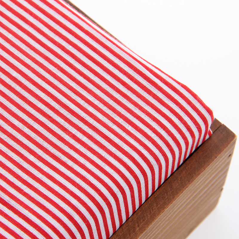El nuevo Arriver 100% Tela de Algodón de Impresión Raya Roja Para El Hogar Texti