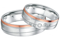 2014 Европа Западный дизайнер Роза цвет золотистый хит Свадебные bands10 летний юбилей Кольца Подарочные наборы для обоих обувь для мужчин и жен