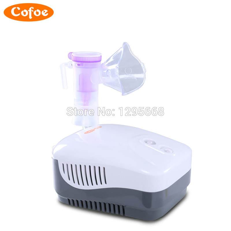 Original Cofoe Medical Household Nebulizer Health Care Asthma Inhaler Mini Automizer Inhale Ultrasonic for Children Baby 2017 cofoe portable ultrasonic nebulizer medical home health care portable inhaler mini dolphins cartoon designed 2017 free shipping