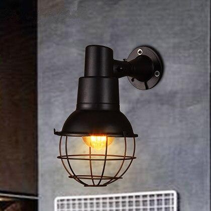Loft Industry Retro Restaurant Bar Iron Wall Lamp American Creative Corridor Stairs Village Cafe Wall Light loft glass wall lamp long arm creative industry retro nostalgia scalable type bedrooms bar restaurant iron foldable lighting