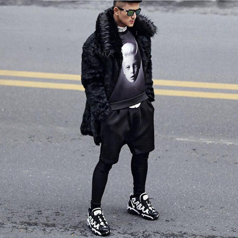 Tranchée Avec Épais Mode Vison Chaud Hommes Pardessus 5xl Hiver Faux Longue De Vêtements Fourrure S Manteau Nouvelle BqRwavS