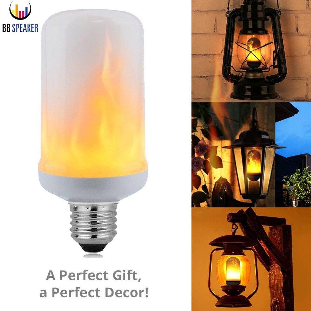 Led Flame Effect Fire Light Bulbs AC85V-265V E27 E26 Simulation flickering decorative lights led flame light fire BB SPEAKER