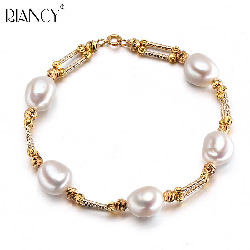 Fashion baroque natural freshwater pearl bracelet for women, trendy real pearl jewelry 925 silver birthday gift high quality