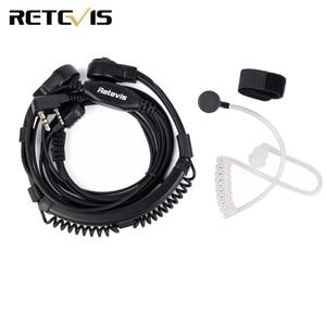 Image 1 - 2 Pin גרון מיקרופון PTT אוזניות עבור KENWOOD TYT BAOFENG UV 5R BF 888S UV 5R Retevis H777 RT5R חזיר רדיו ווקי טוקי C9026A